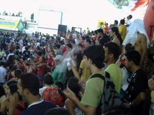 Bancada da Tese REBELE-SE no 12ºCONEB DA UNE - Salvador (Bahia), Janeiro de 2009