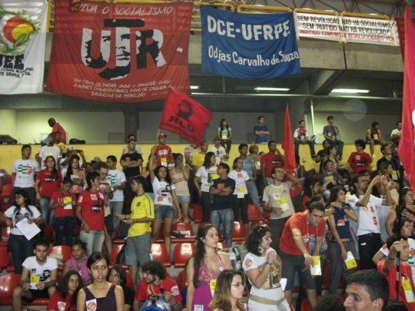 Bancada da Tese Rebele-se no congresso da UNE - Goiás - 2011